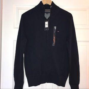 🆕 Tommy Hilfiger navy zip up knit cardigan S